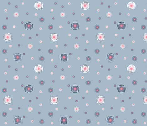 flower_blue fabric by alittlemonster on Spoonflower - custom fabric