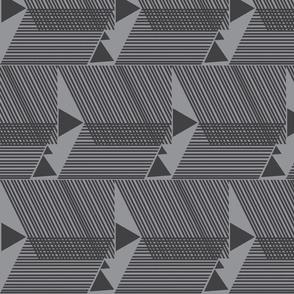 Escherish Fringe in Motion-grey-charcoal