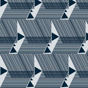 Escherish Fringe in Motion-light blue-indigo