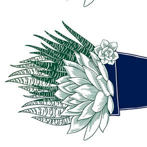 Succulent in Blue Pot Panel