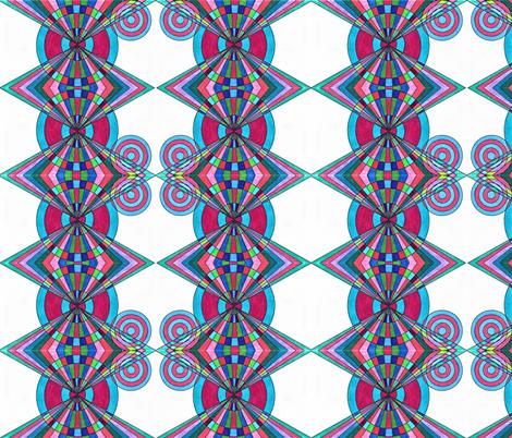 Folk Art fabric by kate's_kwilt_studio on Spoonflower - custom fabric