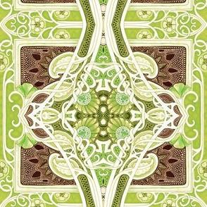 Paisley Leaf Vine Entwine