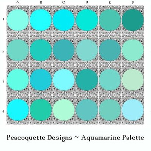 Peacoquette Palette ~ Aquamarine Selection