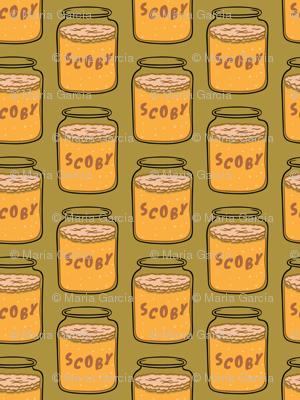 Scoby Kombucha Tea Green