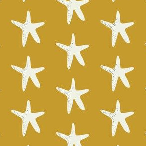Sail Away Coordinate - Star Fish - Mustard