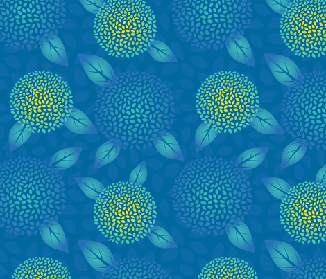 Hydrangea Heaven fabric by marcy_horswill_design on Spoonflower - custom fabric
