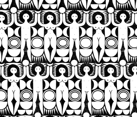 dancing in circles (black) fabric by analinea on Spoonflower - custom fabric