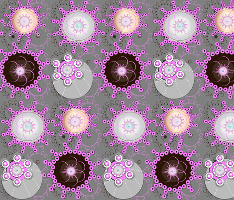 My Circle Garden fabric by gracelillydesigns on Spoonflower - custom fabric