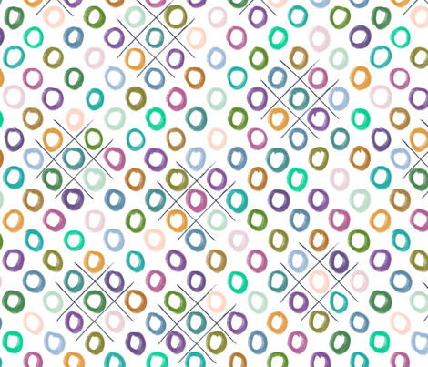 Tic Tac - T-O's fabric by pipitandfox on Spoonflower - custom fabric