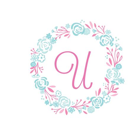 pink  8x8 U - shabby chic rose wreath pink mint fabric by drapestudio on Spoonflower - custom fabric