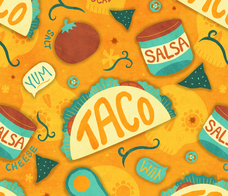Taco Party fabric by littleknids on Spoonflower - custom fabric