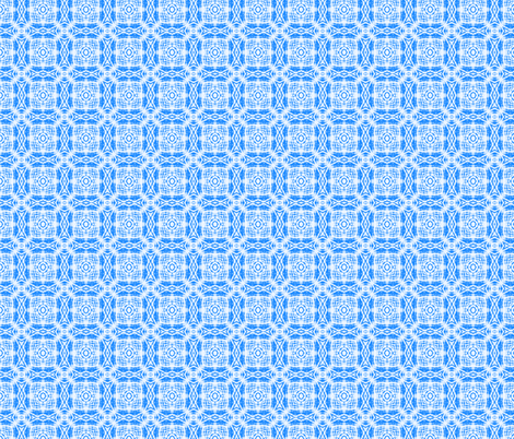 Baby Blue Batik Squares fabric by just_meewowy_design on Spoonflower - custom fabric