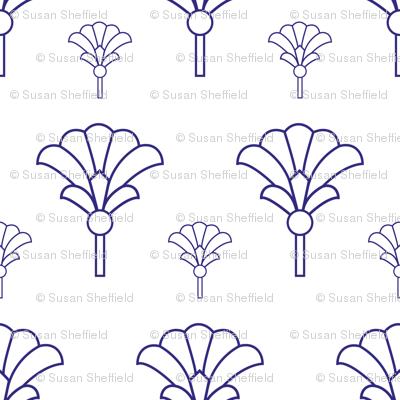 purple geometric fan