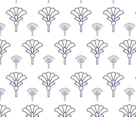 purple geometric fan fabric by susan_sheffield on Spoonflower - custom fabric