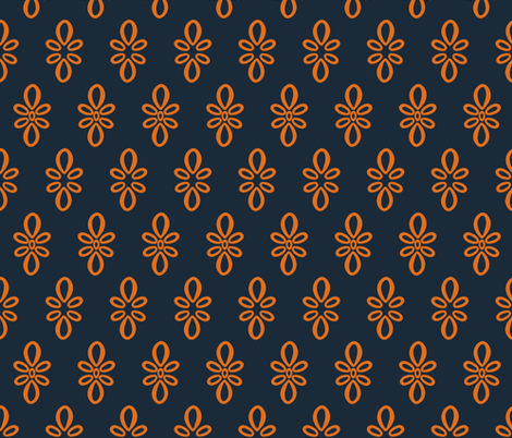Texas Longhorns Dark Gray with Burnt Orange Oval Motif fabric by christiebcurator on Spoonflower - custom fabric