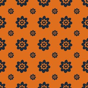 Texas Longhorns Burnt Orange with Gray Flowers