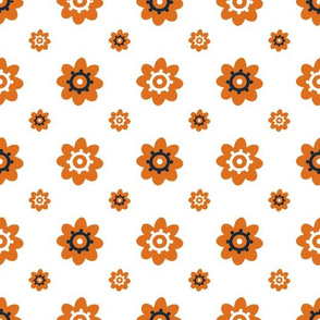 Texas Longhorns white with  burnt orange and black flowers