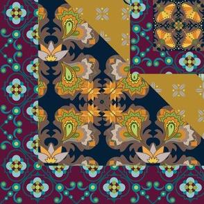 Burgundy Gold Quilt