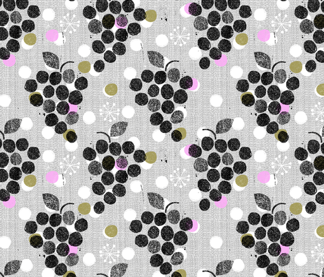 grapes are the new dot fabric by ottomanbrim on Spoonflower - custom fabric