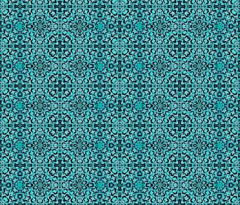 Aquamarine  Dream Ornamental fabric by sewingscientist on Spoonflower - custom fabric