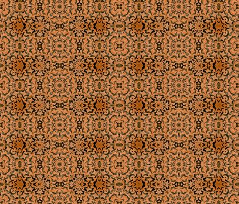 Cup of Joe Brown Ornamental fabric by sewingscientist on Spoonflower - custom fabric
