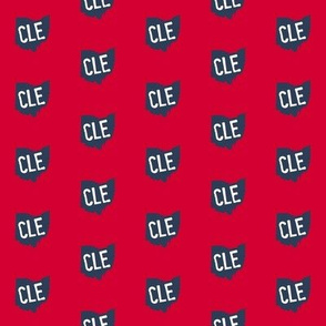 Ohio CLE Red and Blue - Small