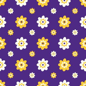 LSU Purple with yellow and white flowers