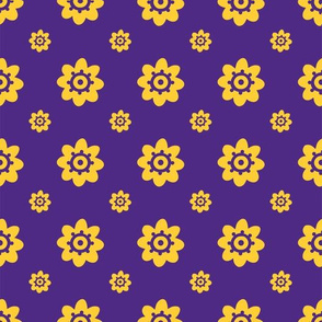 LSU Purple with yellow flowers