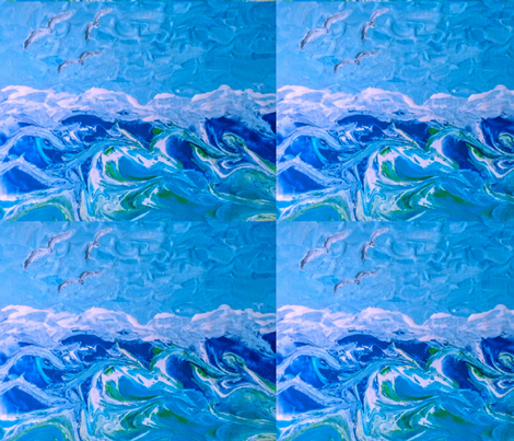 blue reflections fabric by sisters_of_the_heart on Spoonflower - custom fabric
