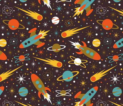 Space Race - 60s fabric by diseminger on Spoonflower - custom fabric