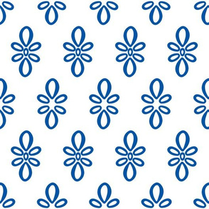 Kentucky white with blue oval motif