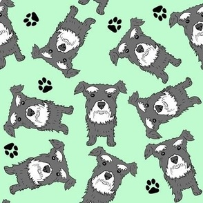 Schnauzer Pattern Green