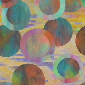 Desert Turquoise Opal Circles