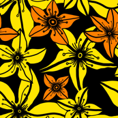 Lily Flowers - yellow & orange