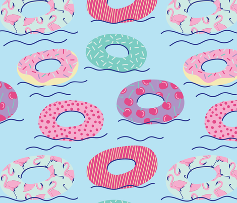 Summer Floaties fabric by little_luck_designs on Spoonflower - custom fabric