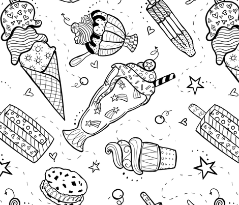 Frozen Fun fabric by julie_needs_a_nap on Spoonflower - custom fabric