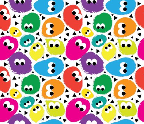 Dot Monsters fabric by sburke313 on Spoonflower - custom fabric