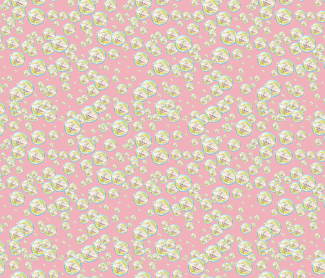 Bubbles Bubblegum Background fabric by iadesigns on Spoonflower - custom fabric