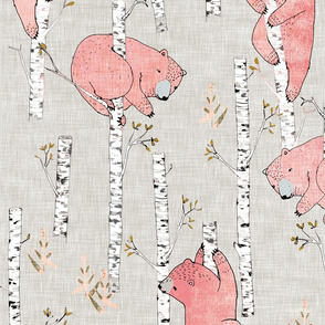 Birch Bears (blush) LRG