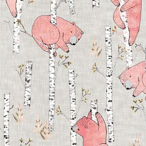 Birch Bears (blush) LRG