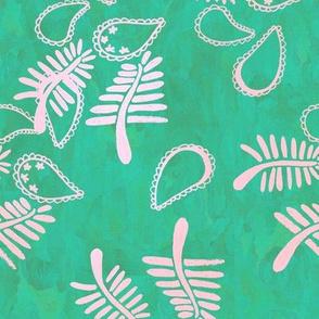 Paisley batik full green