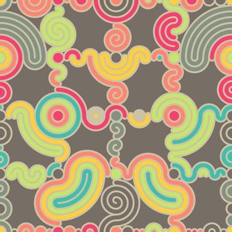 Concentric Circles Do the Shuffle fabric by jinjer on Spoonflower - custom fabric