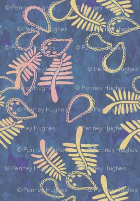 Paisley batik navy