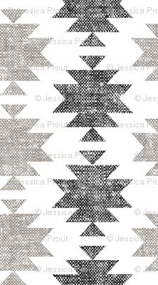 (jumbo scale) modern aztec || woven neutrals