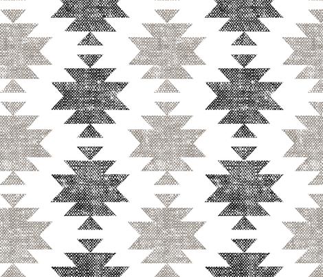 (jumbo scale) modern aztec || woven neutrals fabric by littlearrowdesign on Spoonflower - custom fabric
