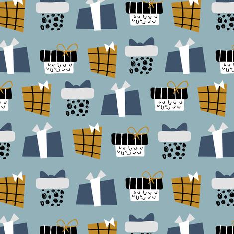 Christmas gifts fabric by yuliia_studzinska on Spoonflower - custom fabric