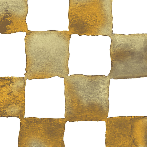 XL watercolor checkerboard - brown, gold, tan and white fabric by weavingmajor on Spoonflower - custom fabric