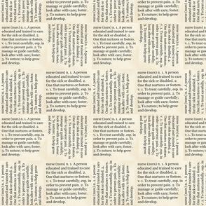 Nurse Text, Words, Medical Dictionary