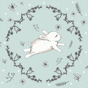 Bunny running mint-ed