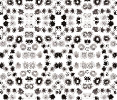 Inky Fan Brush Spots fabric by wondroustrange on Spoonflower - custom fabric